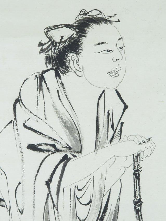 A hanging scroll by zhang dai qian - 4