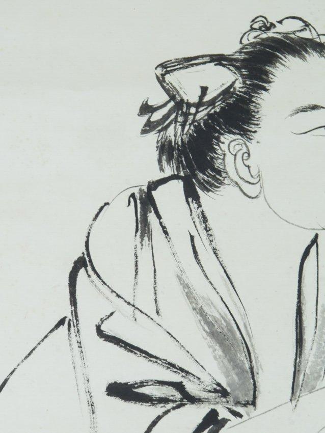A hanging scroll by zhang dai qian - 8