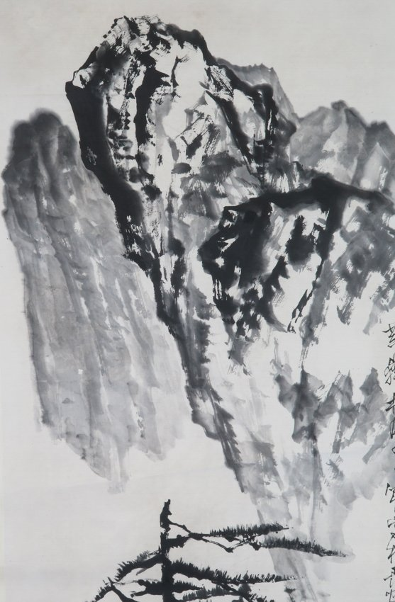 A hanging scroll by shi lu - 4