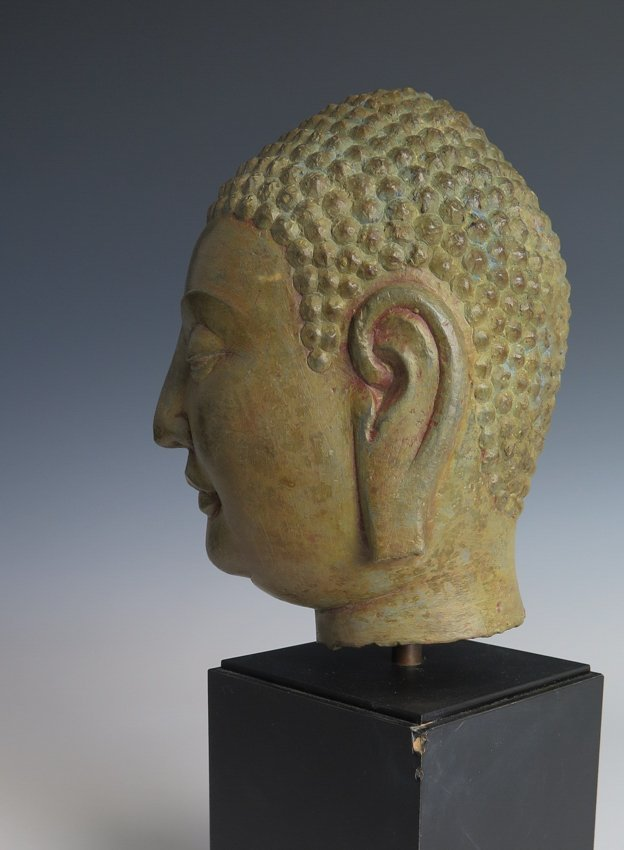 A stone head of Buddha head, Yuan dynasty - 2