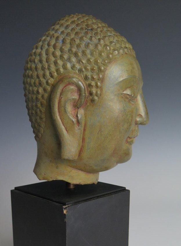 A stone head of Buddha head, Yuan dynasty - 3