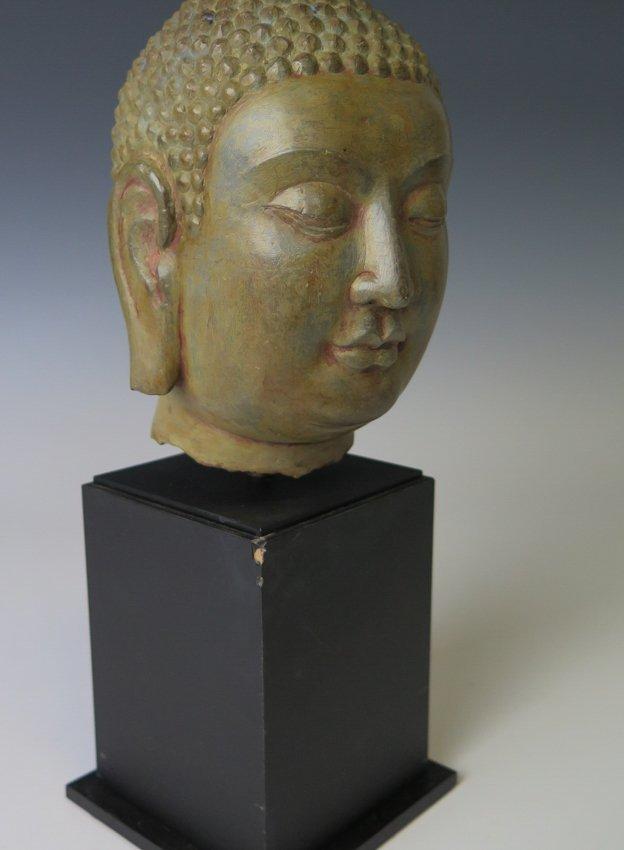 A stone head of Buddha head, Yuan dynasty - 4