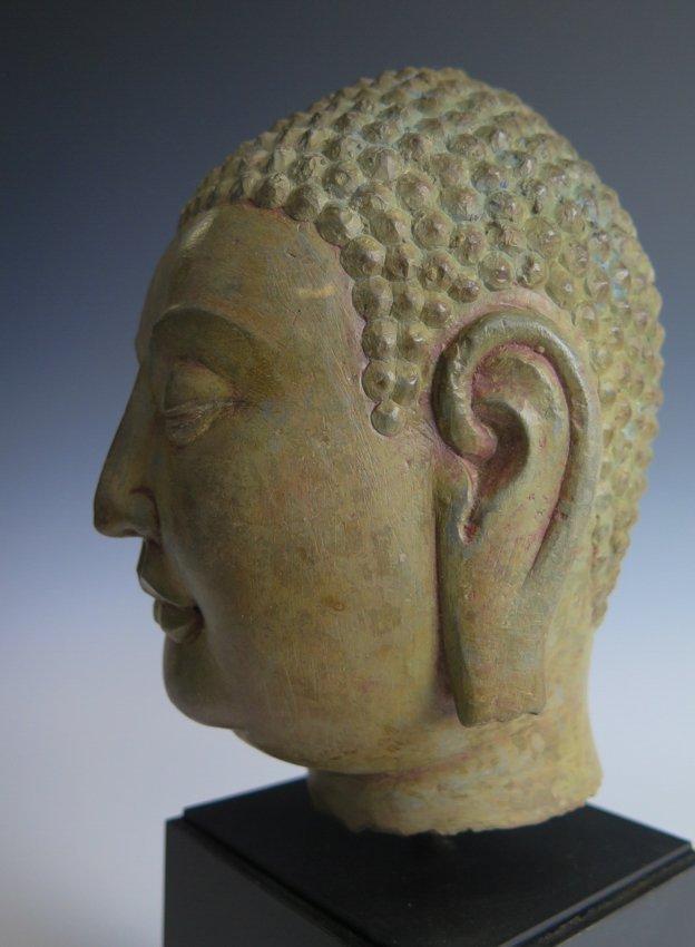 A stone head of Buddha head, Yuan dynasty - 5