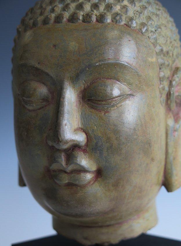 A stone head of Buddha head, Yuan dynasty - 6