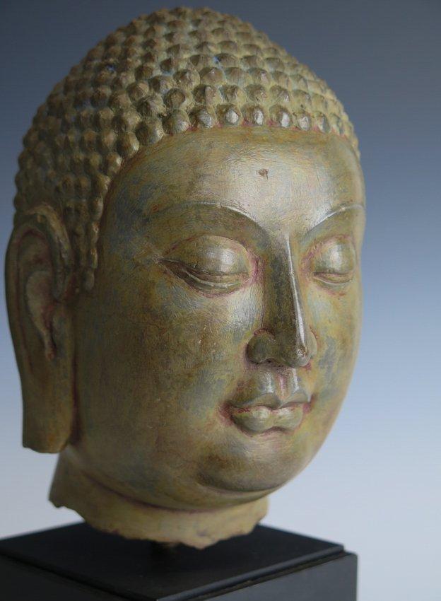 A stone head of Buddha head, Yuan dynasty - 7