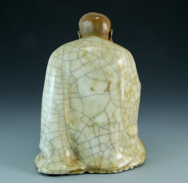 A Porcelain Figure Reading Arhat - 3