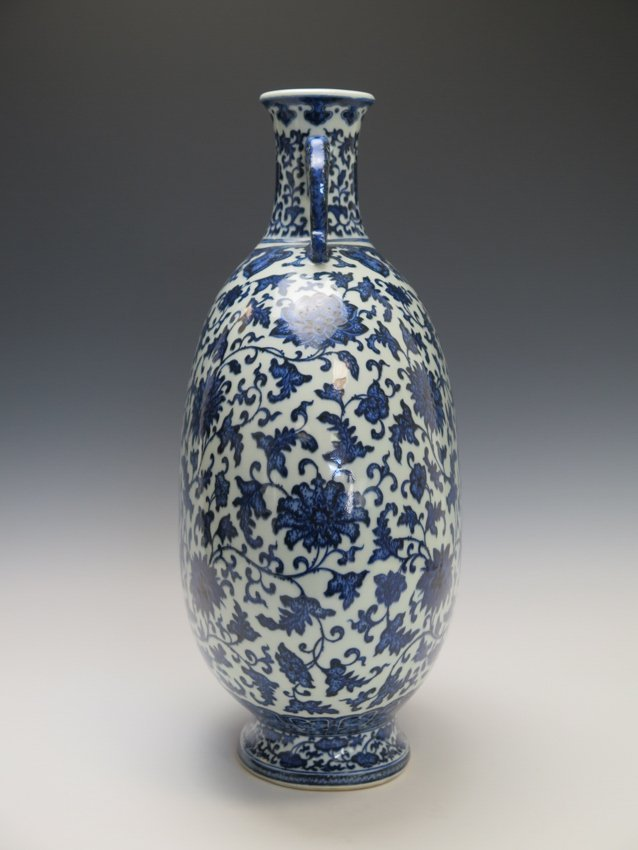 A blue and white moonflask - 5
