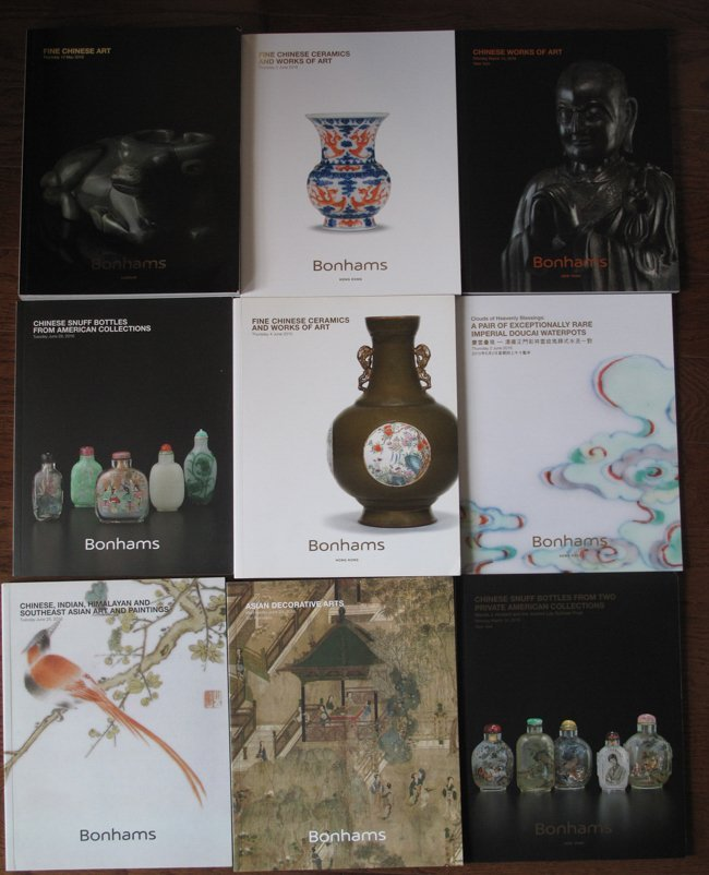 15 BONHAMS AUCTION CATALOGS OF CHINESE WORKS OF ART - 2