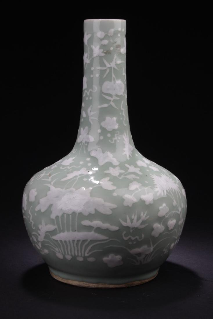 A Flower-filled Chinese Estate Porcelain Vase