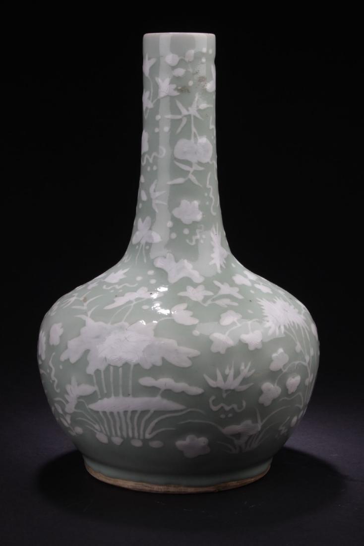 A Flower-filled Chinese Estate Porcelain Vase