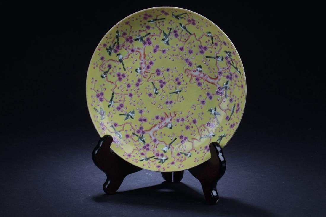 A Flower-filled Chinese Estate Porcelain Plate