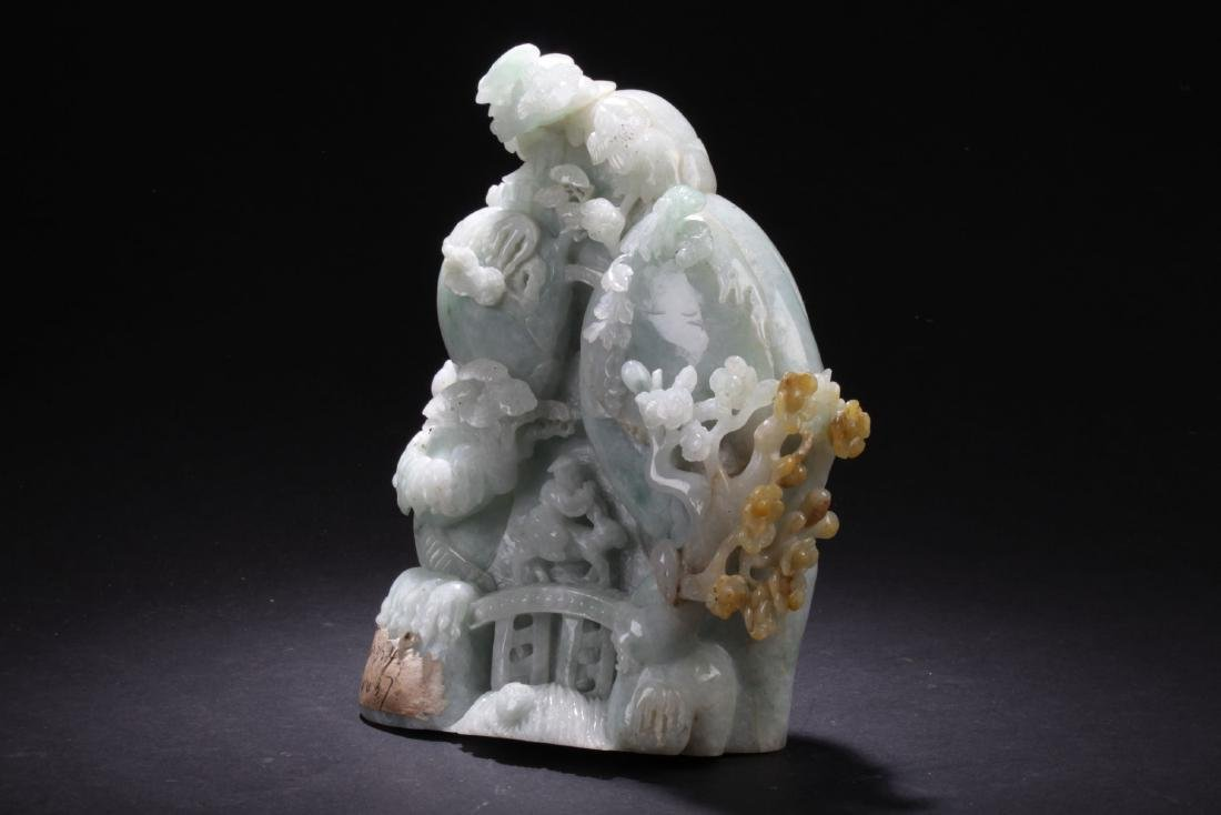 An Estate Chinese Jade-cuving Display