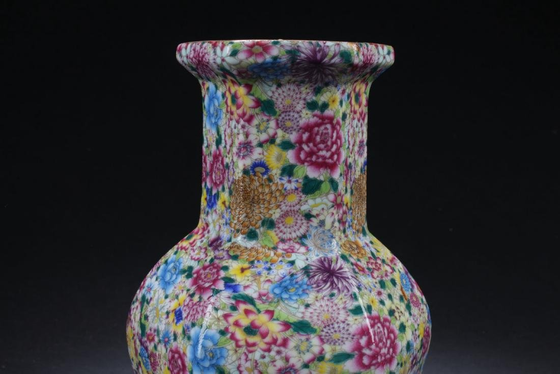 A Flower-blossom Estate Porcelain Vase - 2