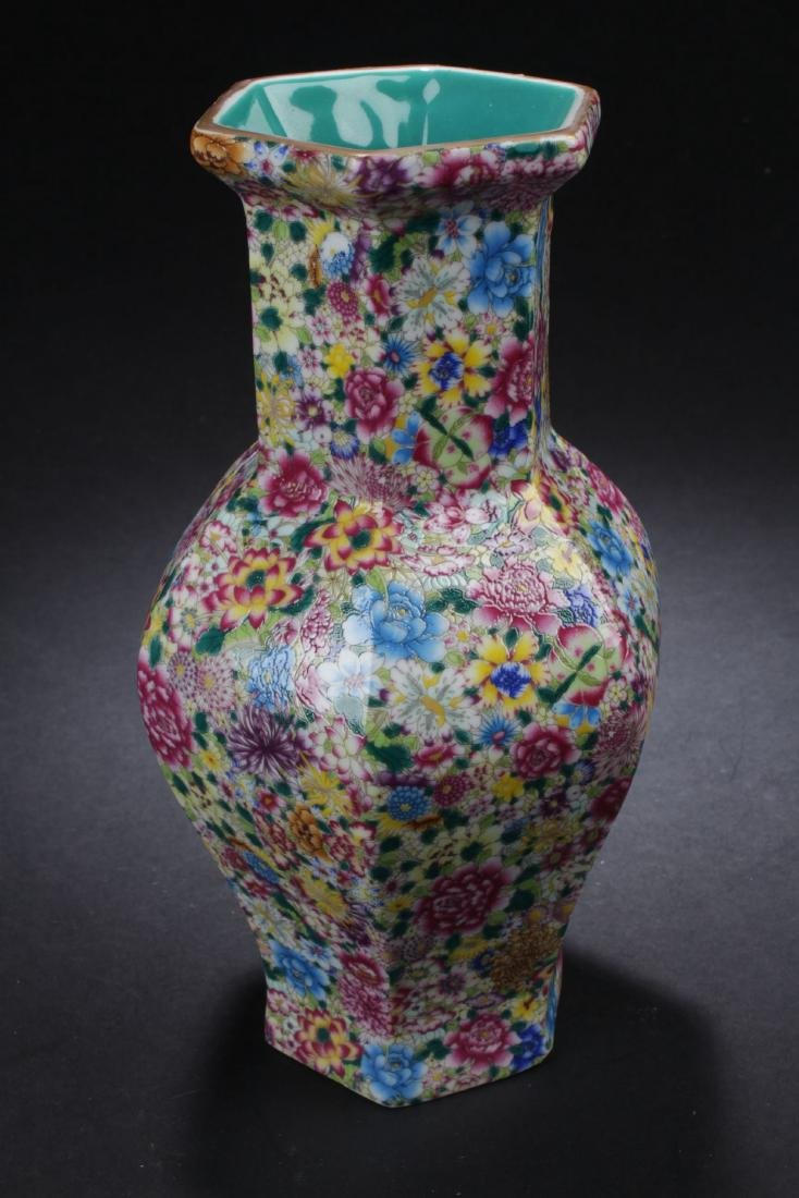 A Flower-blossom Estate Porcelain Vase - 3