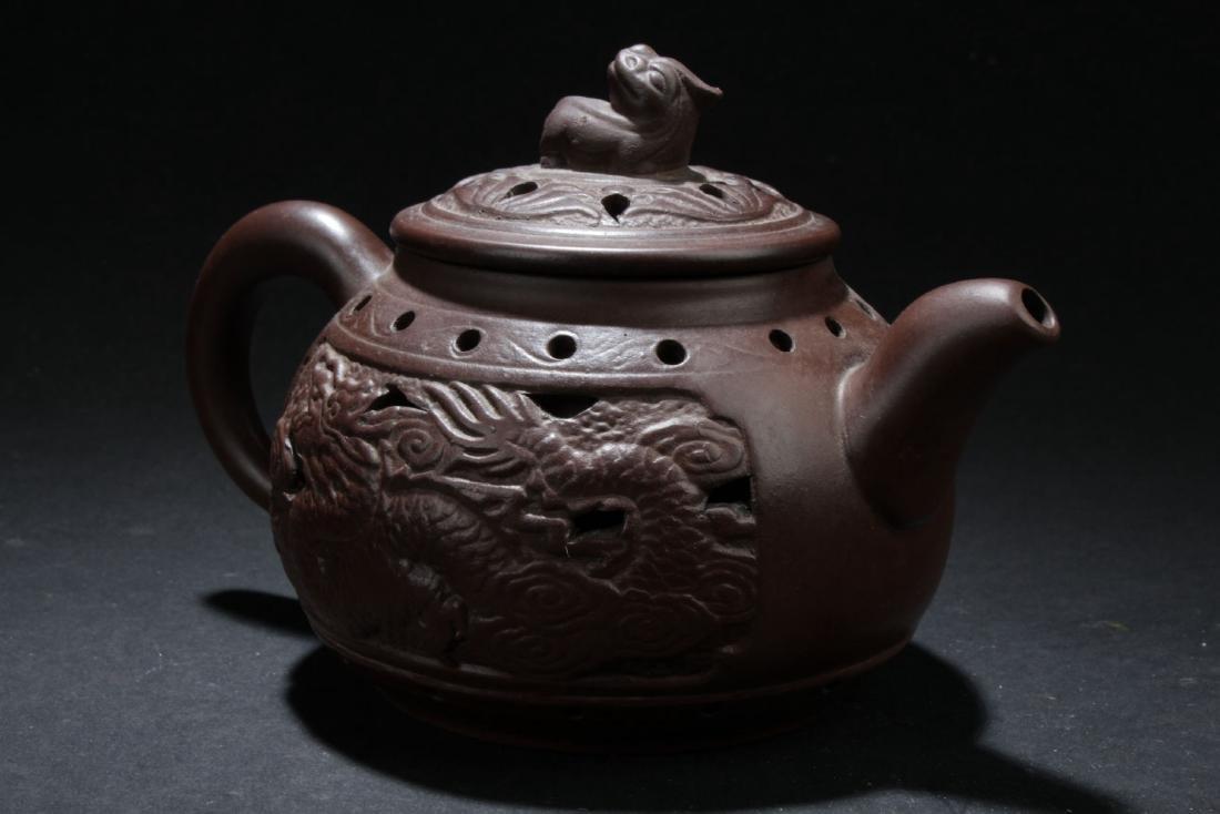 An Estate Chinese Tea Pot Display - 2