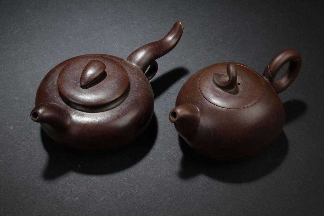 Two Chinese Estate Tea Pots