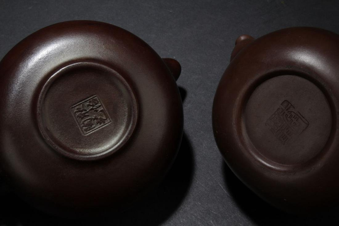 Two Chinese Estate Tea Pots - 5