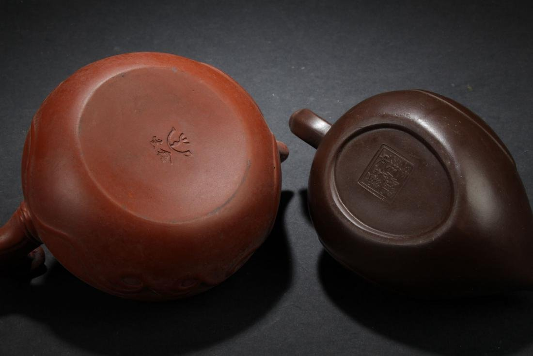 Two Chinese Estate Tea Pots - 4