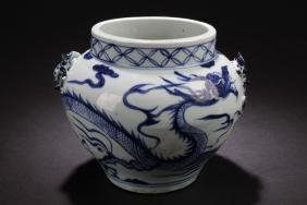A Chinese Estate Blue and White Porcelain Vase
