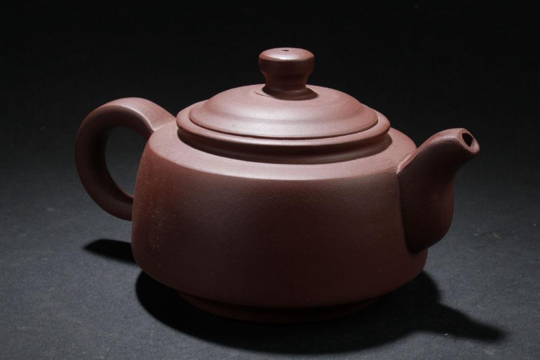 A Round Chinese Circular-lid Tea Pot - 2