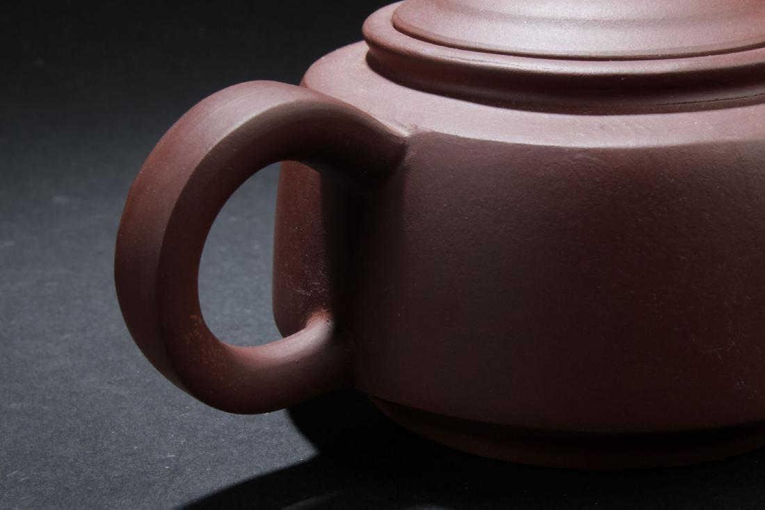 A Round Chinese Circular-lid Tea Pot - 4
