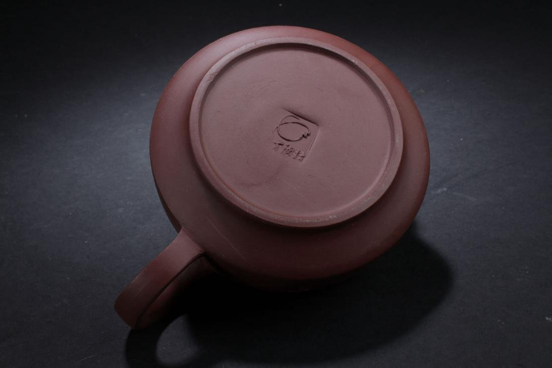 A Round Chinese Circular-lid Tea Pot - 5