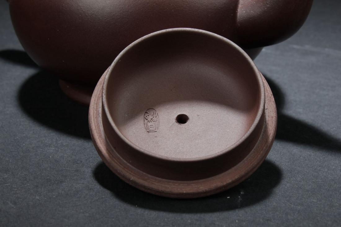An Estate Chinese Round Tea Pot - 4
