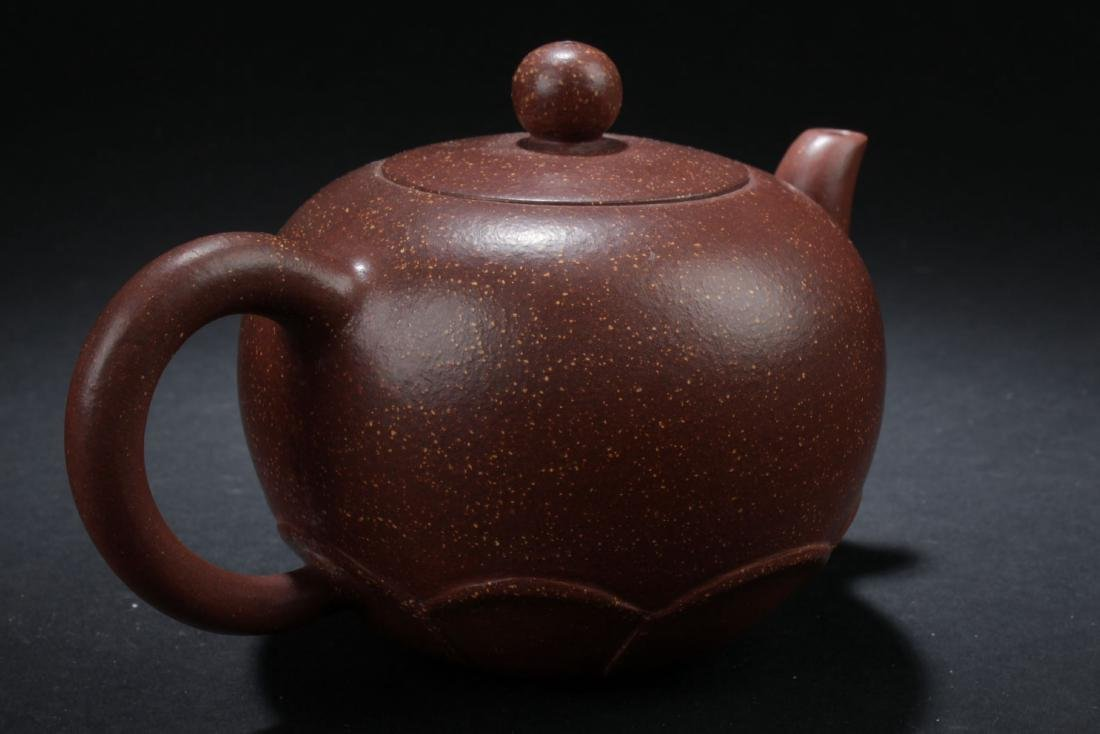 A Chinese Loctus-seated  Tea Pot - 3