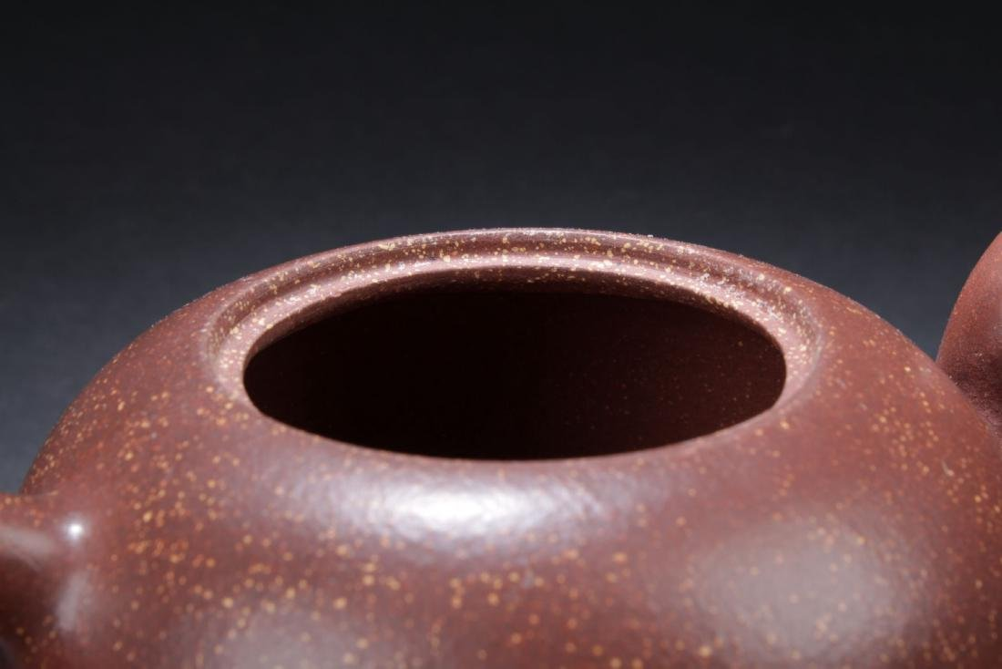 A Chinese Loctus-seated  Tea Pot - 5