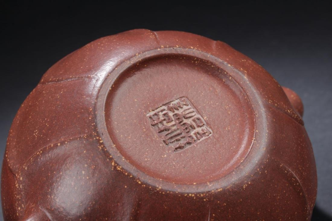 A Chinese Loctus-seated  Tea Pot - 7