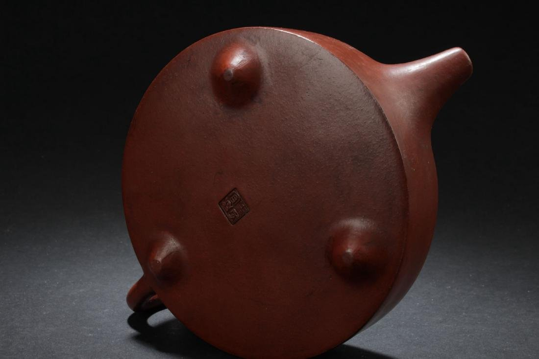 A Flat-circular Chinese Estate Tea Pot - 5