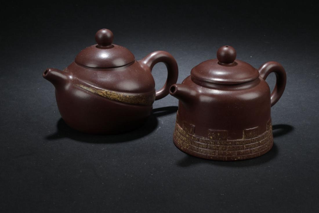 Two Estate Chinese Tea Pot
