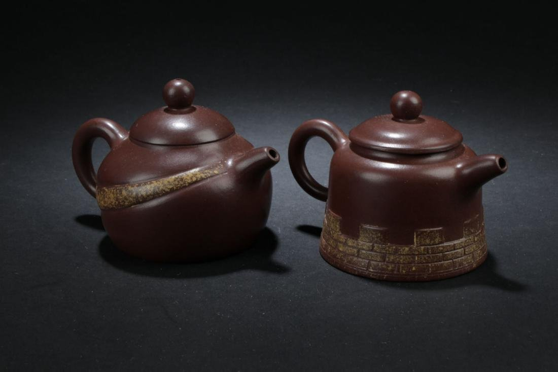 Two Estate Chinese Tea Pot - 2
