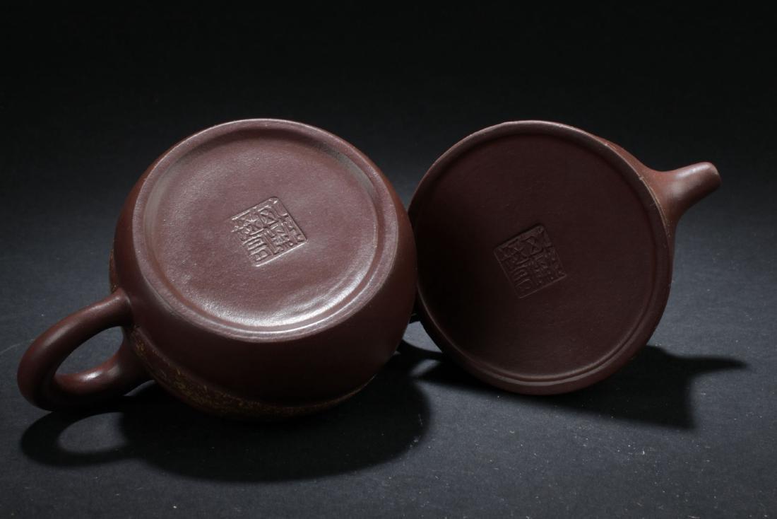 Two Estate Chinese Tea Pot - 7