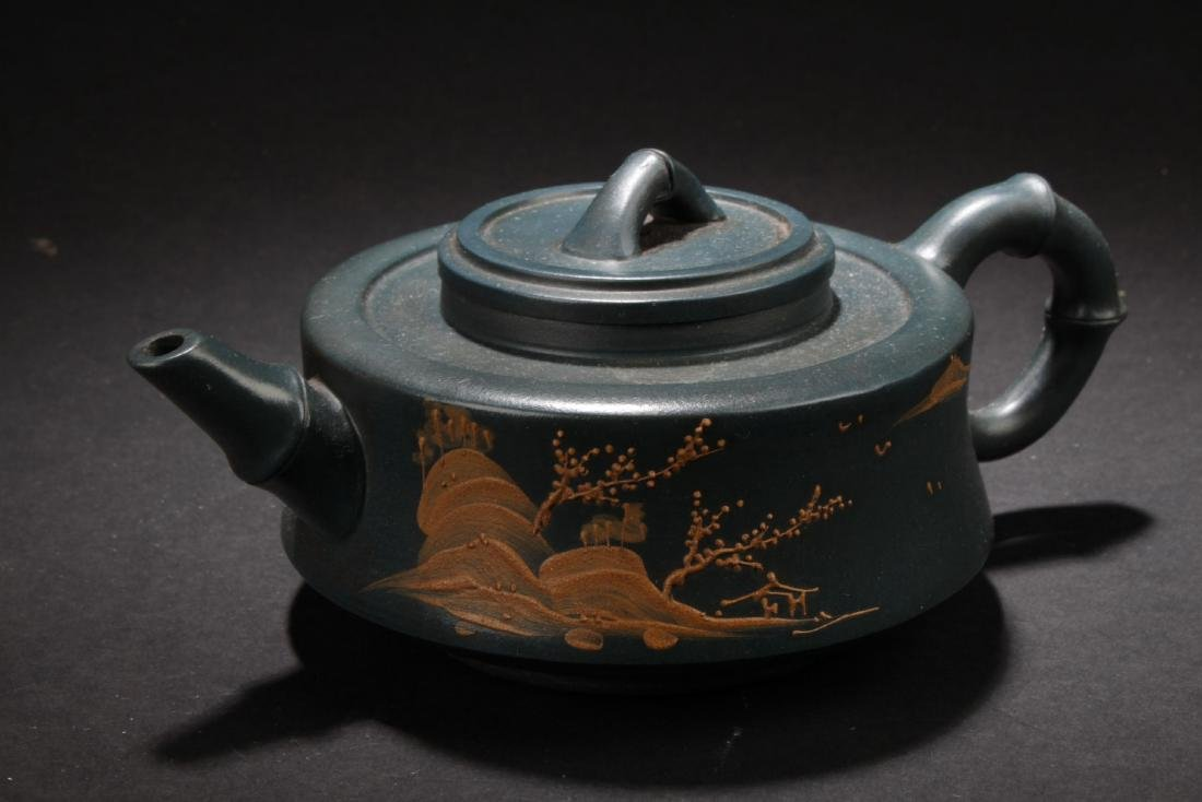 An Estate Land-scape Decorating Chinese  Tea Pot