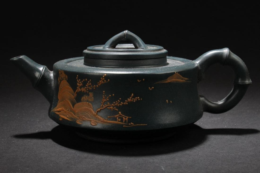 An Estate Land-scape Decorating Chinese  Tea Pot - 5