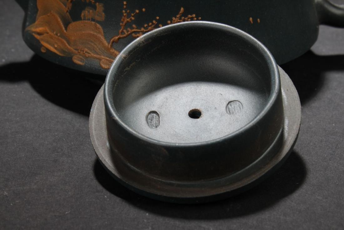 An Estate Land-scape Decorating Chinese  Tea Pot - 6