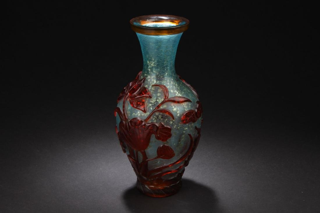 A Chinese Peking-glass Display Vase - 2