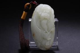 A Hotan Jade Chinese Estate Jade-cuving Figure