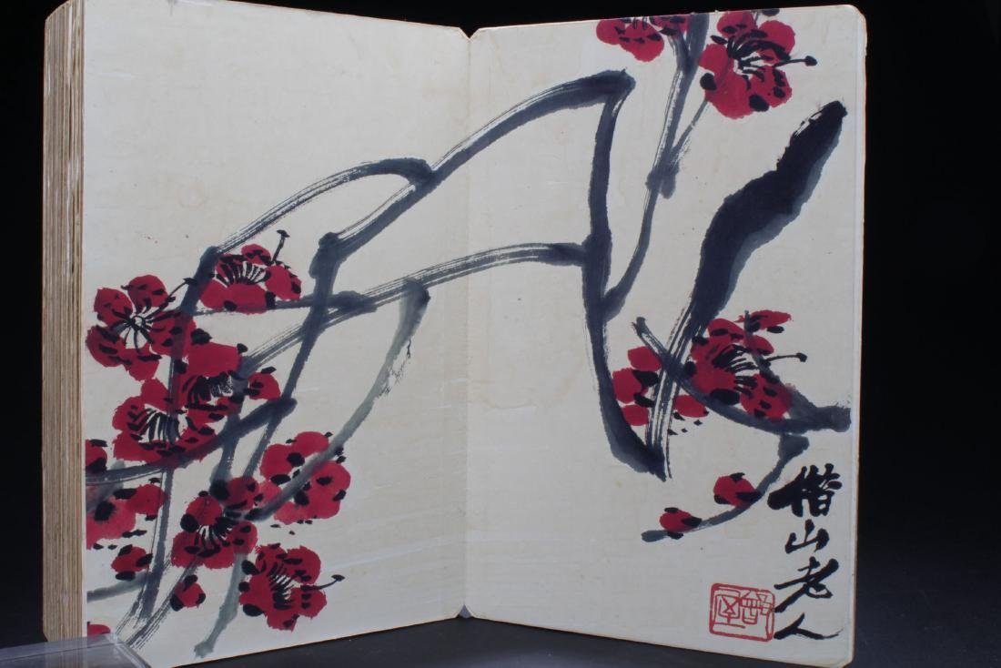 An Estate Chinese Thick-paged Painting Book - 3