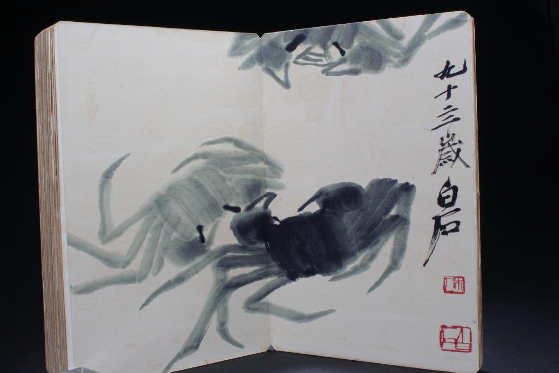An Estate Chinese Thick-paged Painting Book - 4