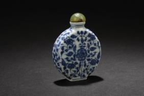 A Chinese Blue Estate Snuff Bottle
