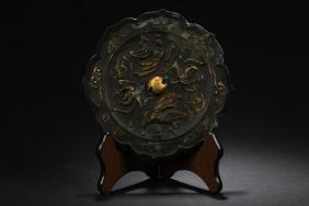 An Estate Chinese Metal Bronze Mirror