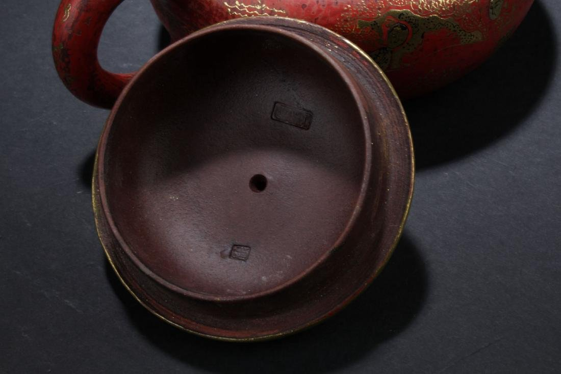 An Estate Chinese Story-telling Tea Pot - 4