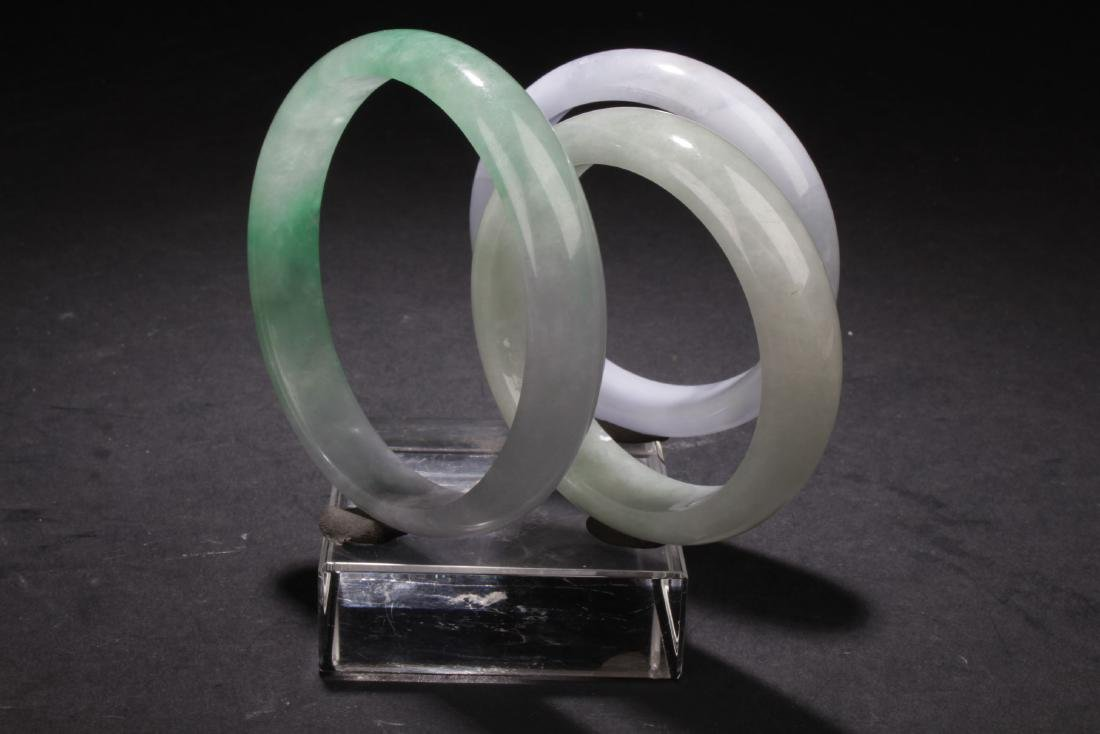 Group of Chinese Estate Bangles - 2