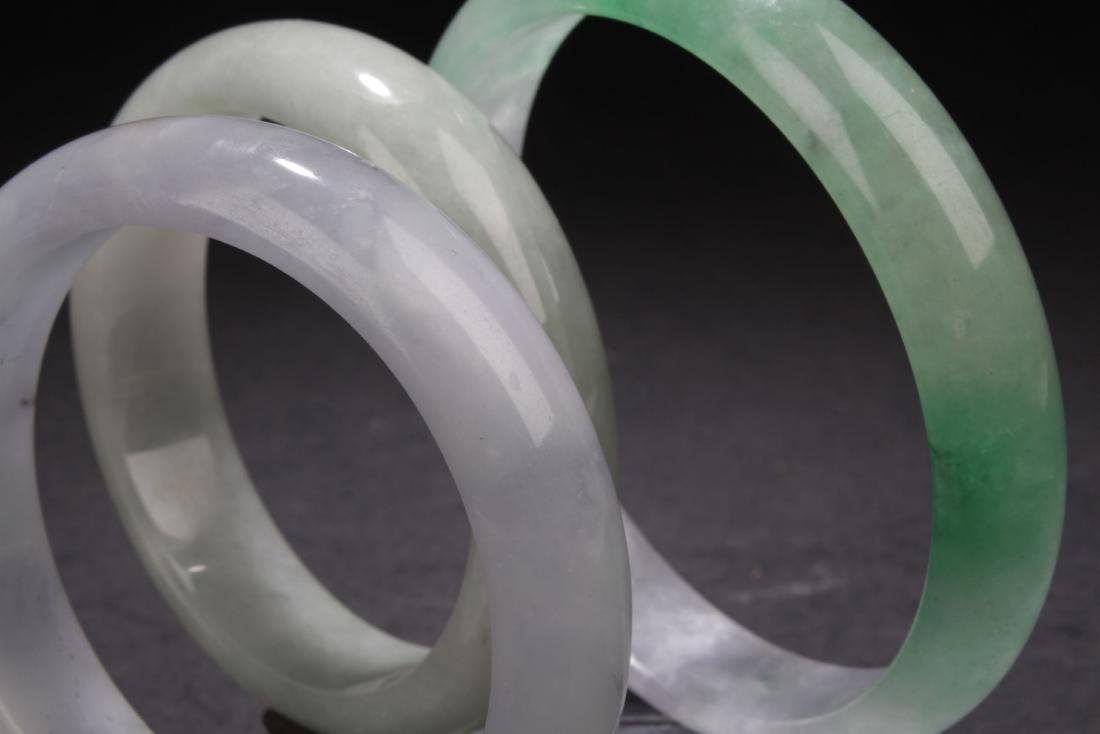 Group of Chinese Estate Bangles - 4