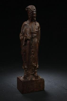 An Chinese Estate Wooden Buddha Display