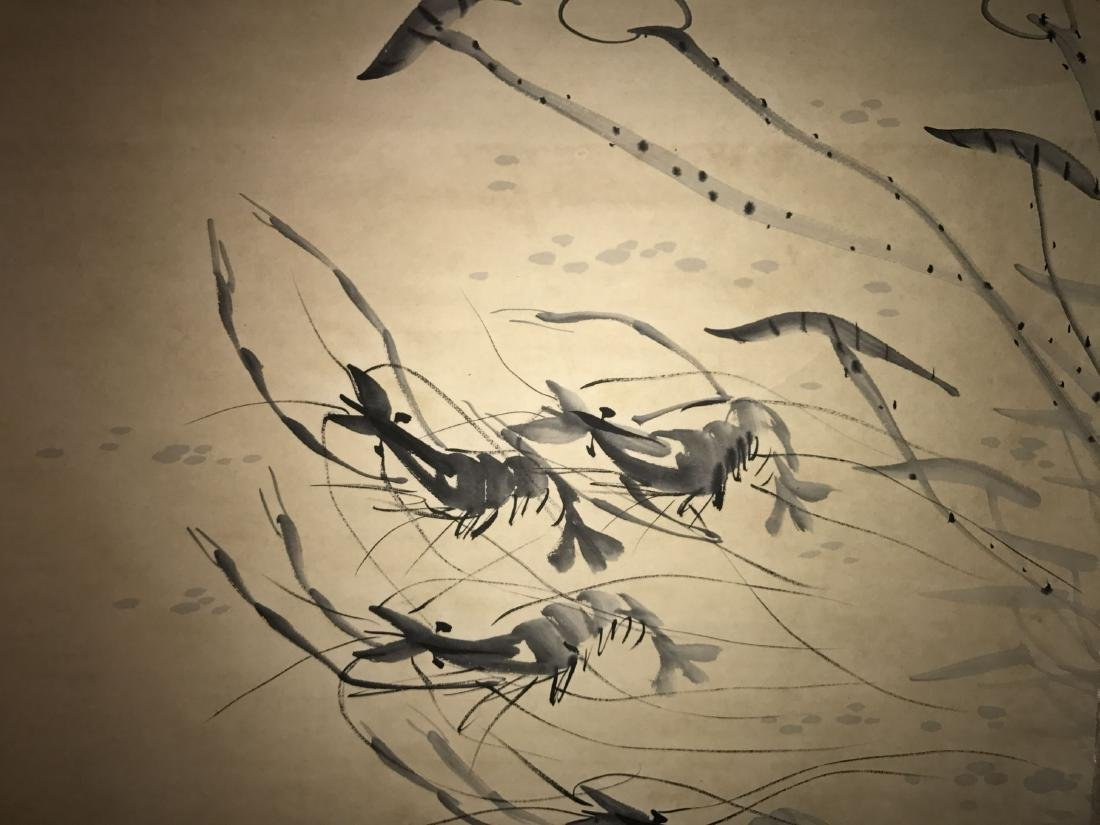 A Chinese Estate Abstract-shrimps Painting Scroll - 6