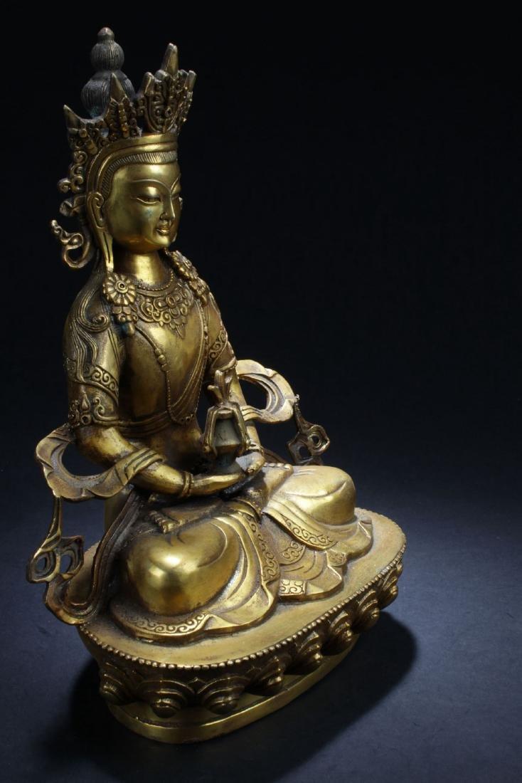 An Estate Chinese Buddha Statue - 2