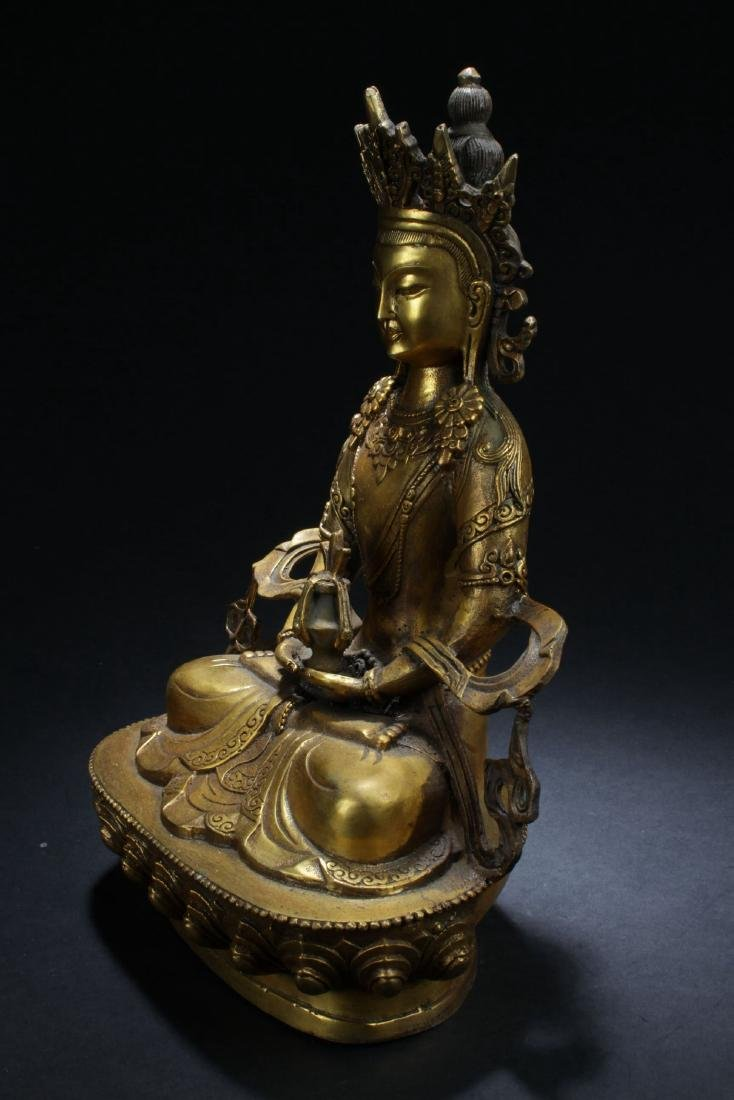 An Estate Chinese Buddha Statue - 3